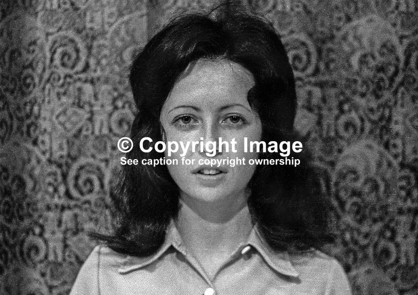 Shiela Carson, secretary, SDLP, Social Democratic &amp; Labour Party, N Ireland, 1971, 197100000465<br /> <br /> Copyright Image from Victor Patterson, 54 Dorchester Park, Belfast, UK, BT9 6RJ<br /> <br /> t1: +44 28 9066 1296 (from Rep of Ireland 048 90661296)<br /> t2: +44 28 9002 2446 (from Rep of Ireland 048 90022446)<br /> m: +44 7802 353836<br /> <br /> e1: victorpatterson@me.com<br /> e2: victorpatterson@gmail.com<br /> <br /> www.victorpatterson.com<br /> <br /> IMPORTANT: Please see my Terms and Conditions of Use at www.victorpatterson.com