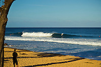Haleiwa Hawaii, (Saturday November 27, 2010) .A small wind swell in the 2' range with strong trade winds was on offer todayat Rocky Point..Photo: joliphotos.com