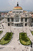Bellas Artes, the Mexico City opera house in the city center. Wednesday, August 27, 2008