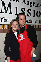 Jennifer Love Hewitt & Ross McCall  at the LA Mission Thanksgivng Feeding of the Homeless in    Los Angeles, CA.November 26, 2008.©2008 Kathy Hutchins / Hutchins Photo....