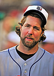3 July 2010: New York Mets' starting pitcher R.A. Dickey in the dugout during a game against the Washington Nationals at Nationals Park in Washington, DC. The Nationals rallied in the bottom of the 9th to defeat the Mets 6-5 in the third game of their 4-game series. Mandatory Credit: Ed Wolfstein Photo