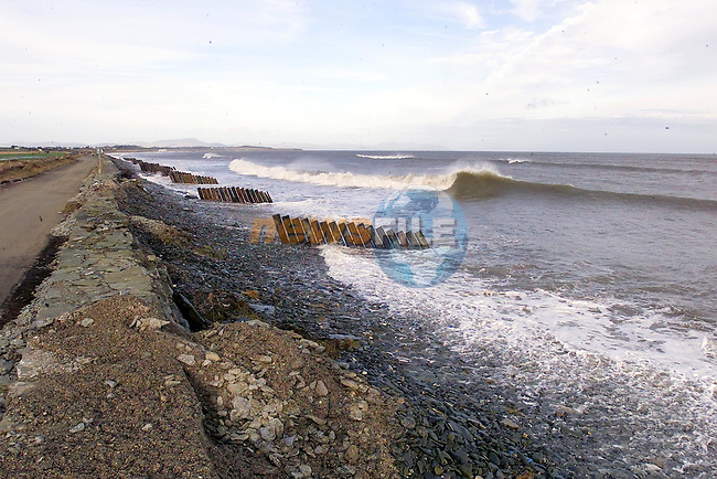 some of the waves that demolisted the wall along the big strand between dunany and clogherhead..Picture Fran Caffrey Newsfile.