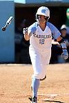 24 April 2016: North Carolina's Kristen Brown walks. The University of North Carolina Tar Heels hosted the University of Notre Dame Fighting Irish at Anderson Stadium in Chapel Hill, North Carolina in a 2016 NCAA Division I softball game. UNC won game 1 of the doubleheader 7-4.