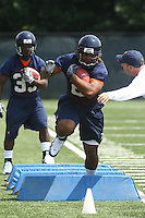Virginia runningback Dominique Wallace during open spring practice for the Virginia Cavaliers football team August 7, 2009 at the University of Virginia in Charlottesville, VA. Photo/Andrew Shurtleff