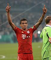 FUSSBALL   DFB POKAL   SAISON 2011/2012   HALBFINALE   21.03.2012 Borussia Moenchengladbach - FC Bayern Muenchen  SCHLUSSJUBEL FC Bayern Muenchen;  Luiz Gustavo