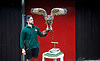 ZSL London Zoo Annual Weigh-in at London Zoo, Regent's Park, London, Great Britain <br /> 26th August 2015 <br /> <br /> Zoo keeper Grant with a Eurasian Eagle-Owl called Max who weighed-in at 1.921 Kg. <br /> <br /> <br /> Photograph by Elliott Franks <br /> Image licensed to Elliott Franks Photography Services