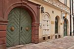 A book shop on Kanonicza Street in Krakow, Poland. Kanonicza Street in Krakow leads to Wawel Castle
