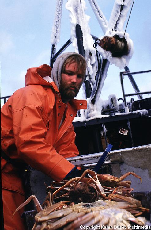 Bairdi crab fishing in the Bering Sea onboard the Maverick.