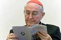 Roma 19 Ottobre 2015<br /> Conferenza stampa di presentazione della Guida agli eventi della diocesi di Roma per il Giubileo della misericordia. Il Cardinale Augusto Vallini  vicario del Papa per la diocesi di Roma.<br /> Rome 19 October 2015<br /> Press conference to present the Events Guide of the Diocese of Rome for the Holy Year of Mercy. The Cardinal Augusto Vallini the Pope's vicar for the diocese of Rome.