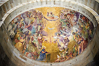 Fresco on the Interior  of the Romanesque Cattedrale di San Martino,  Duomo of Lucca, Tunscany, Italy