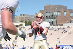 14 October 2006: Florida State's Jared Whipkey throws screen passes during pregame warmups. The Florida State University Seminoles defeated the Duke University Blue Devils 51-24 at Wallace Wade Stadium in Durham, North Carolina in an Atlantic Coast Conference NCAA Division I College Football game.