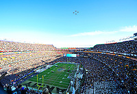 Navy aircraft does a fly over FedEx Field during the Army vs. Navy game in Landover, MD on Saturday, December 10, 2011. Alan P. Santos/DC Sports Box