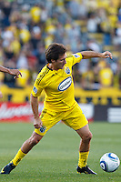 3 JULY 2010:  Guillermo Barros Schelotto of the Columbus Crew (7) during MLS soccer game between Chicago Fire vs Columbus Crew at Crew Stadium in Columbus, Ohio on July 3, 2010.
