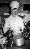 Gerry Young, boxer, super welterweight, from Belfast, N Ireland, where he a chef in the local Gables Restaurant. March 1977. 197703000169<br />