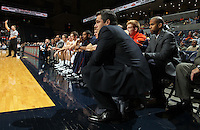 Dec. 20, 2010; Charlottesville, VA, USA; Virginia Cavaliers head coach Tony Bennett watches a play during the game against the Norfolk State Spartans at the John Paul Jones Arena. Mandatory Credit: Andrew Shurtleff