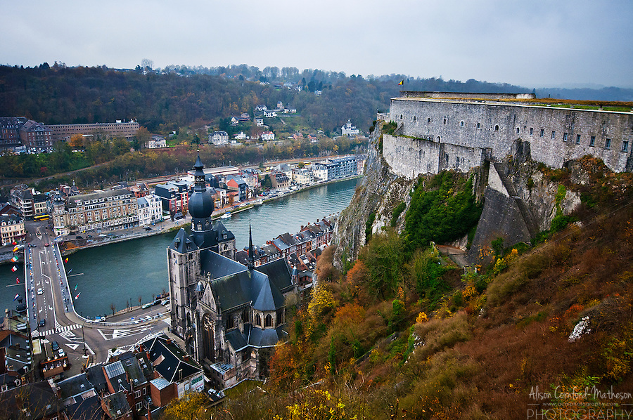 Dinant Citadel and Notre-Dame Collegiate Church, Dinant, Belgium