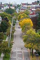 Burlington, Vermont and Lake Champlain UVM Fall Campus
