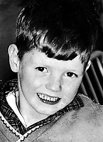 Francis Rowntree, 11 years, from Lower Clonard Street, Belfast, who was hit in the head by a rubber bullet fired by a British soldier during rioting on 20th April 1972. He died on 23rd April 1972 from his injuries. There was controversy at the time as to whether Francis was actually involved in the rioting and that the rubber bullet had been tampered with to make it more lethal. 1972042230239..Copyright Image from Victor Patterson, 54 Dorchester Park, Belfast, United Kingdom, UK.  Tel: +44 28 90661296; Mobile: +44 7802 353836; Voicemail: +44 20 88167153;  Email1: victorpatterson@me.com; Email2: victor@victorpatterson.com..For my Terms and Conditions of Use go to http://www.victorpatterson.com/Terms_%26_Conditions.html