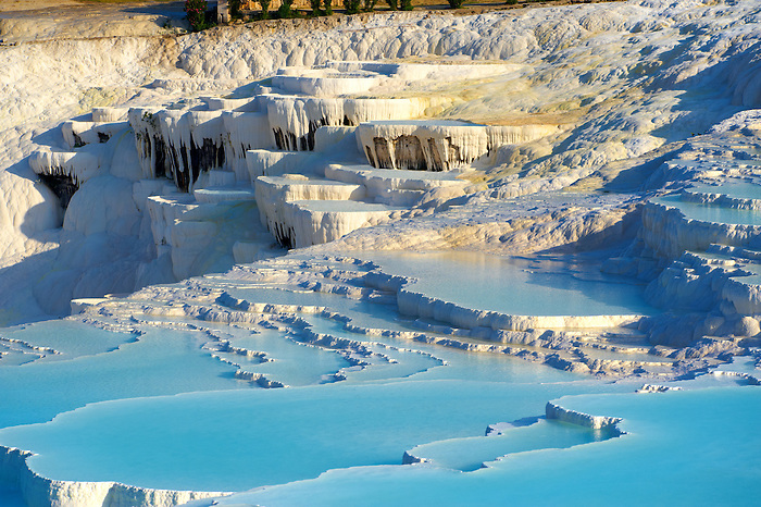 Photo & Image  of Pamukkale Travetine Terrace, Turkey. Images of the white Calcium carbonate rock formations. Buy as stock photos or as photo art prints. 1
