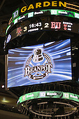 - The Boston College Eagles defeated the Boston University Terriers 3-2 (OT) in their Beanpot opener on Monday, February 7, 2011, at TD Garden in Boston, Massachusetts.