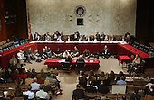 Washington, D.C. - March 23, 2004 -- General view of the meeting of the National Commission on Terrorist Attacks Upon the United States (9/11 Commission) during its 8th Public Hearing in Washington, D.C. on March 23, 2004.<br /> Credit: Ron Sachs / CNP<br /> [RESTRICTION: No New York Metro or other Newspapers within a 75 mile radius of New York City]