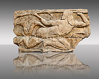 "Satyr from the ""Satyr Hunting Wils Animals, freezes, 460 B.C. From Xanthos, UNESCO World Heritage site, south west Turkey. A British Museum exhibit GR 1848-10-20-2-9 (sculpture B 2902- 298)."