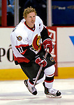 10 February 2007: Ottawa Senators right wing forward and team captain Daniel Alfredsson from Sweden warms up prior to facing the Montreal Canadiens at the Bell Centre in Montreal, Canada. The Senators defeated the Canadiens 5-3 in front of a hometown sellout crowd of 21,273.