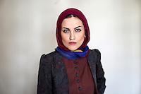 Fashion model, Sahar, posing for a fashion photographer.