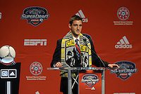 Ethan Finlay 10th pick of first round by Columbus Crew.. The 2012 MLS Superdraft was held on January 12, 2012 at The Kansas City Convention Center, Kansas City, MO.