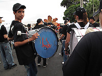 2/15/09---Marching band during the carnival in the southern town of Arroyo in Puerto Rico..Photo by Angel Valentin, copyright 2009. NO MODEL RELEASE.