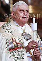 Mariazell, Pope Benedict XVI  vesper prayers inside the Basilica , Austria.September 8, 2007