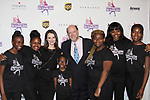 Sasha Cohen & Curtis McGraw Webster both honored tonight pose with skaters - Figure Skating in Harlem celebrates 20 years - Champions in Life benefit Gala on May 2, 2017 honoring Sasha Cohen and award is presented to her by Evan Lysacek and Curtis is presented award by Dick Button. (Photo by Sue Coflin/Max Photos)