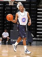 Jahii Carson at the NBPA Top100 camp June 17, 2010 at the John Paul Jones Arena in Charlottesville, VA. Visit www.nbpatop100.blogspot.com for more photos. (Photo © Andrew Shurtleff)