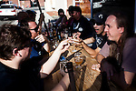 Locals enjoy beers at Craft in the Midtown district in Reno, Nevada, July 6, 2012.