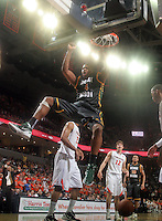 CHARLOTTESVILLE, VA- DECEMBER 6: Erik Copes #4 of the George Mason Patriots dunks the ball during the game on December 6, 2011 at the John Paul Jones Arena in Charlottesville, Virginia. Virginia defeated George Mason 68-48. (Photo by Andrew Shurtleff/Getty Images) *** Local Caption *** Erik Copes