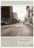 New Montgomery and Market Sts looking East |  June 23, 1937 | Treasures from the Muni Archive