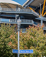 Heinz Field located at the corner of Art Rooney Avenue and North Shore Drive. The Akron Zips Defeated the Pitt Panthers 21-10 at Heinz Field, Pittsburgh. Pennsylvania on September 27, 2014.