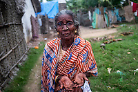 Lakshmi Amma (78 years) explains how their economical condition went down after 2004 tsunami. Cuddalore, Tamil Nadu, India.