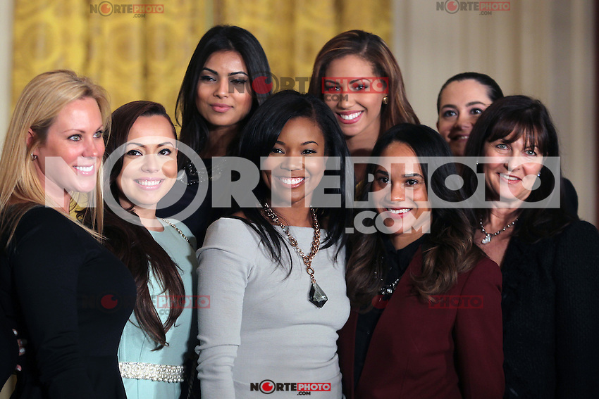 WASHINGTON D.C. - JANUARY 28:  Gabrielle Union and the wives of Miami Heat players on hand as President Barack Obama Honors the Miami Heat at the White House in celebration of their 2012 NBA Championship win. January 28, 2013. mpi34/MediaPunch Inc. NortePhoto /NortePhoto /NortePhoto