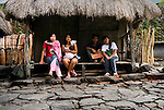 PHILIPPINES (Batad, Province of Ifugao). 2009. Young in a house in Batad village.
