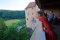 "Gars am Kamp, Lower Austria. Kunstraum Buchberg at Buchberg castle. Opening of the permanent installation ""cinéma"" (2014) by Dorit Margreiter."