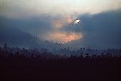 Sunset over Gravina Island from Ketchikan, Alaska.
