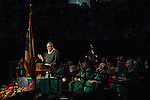 Ohio University alumnus and former Harley-Davidson CEO Keith Wandell delivers the commencement address during the morning Undergraduate Commencement ceremony on Saturday, May 2, 2015.  Photo by Ohio University  /  Rob Hardin