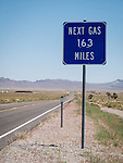 Next Gas, 163 miles, Tonopah, Nev., along U.S. 6