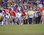 Ole Miss quarterback Bo Wallace (14) vs. LSU at Tiger Stadium in Baton Rouge, La. on Saturday, November 17, 2012. LSU won 41-35.....