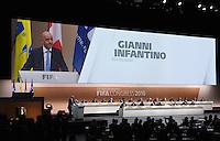Fussball International Ausserordentlicher FIFA Kongress 2016 im Hallenstadion in Zuerich 26.02.2016 Neuer FIFA Praesident ist Gianni Infantino (Schweiz)