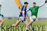 Paul Geaney Kerry in action against David Ward Limerick in the Final of the McGrath Cup at the Gaelic Grounds on Sunday.