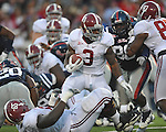 Alabama running back Trent Richardson (3) runs at Vaught-Hemingway Stadium in Oxford, Miss. on Saturday, October 14, 2011. Alabama won 52-7.