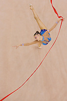 Evgenia Kanaeva (RUS) performs with the ribbon during the final of the 2nd Garantiqa Rythmic Gymnastics World Cup held in Debrecen, Hungary. Sunday, 07. March 2010. ATTILA VOLGYI