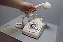 SAITAMA - DEC. 5: A piece of 'living sculpture' made by Yoko Ono; a phone on display at the John Lennon Museum for which only Yoko Ono has the number and which, from time-to-time, she will randomly call to speak with museum visitors. (Photo by Alfie Goodrich/Nippon News)